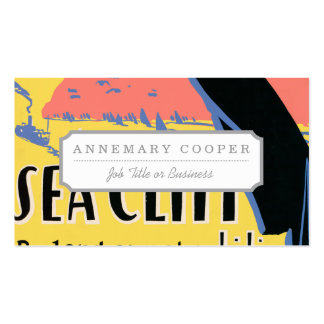 Just one long step to Sea Cliff Double-Sided Standard Business Cards (Pack Of 100)