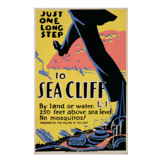 Just one long step to Sea Cliff Poster