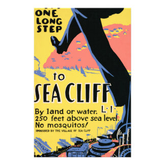 Just one long step to Sea Cliff Stationery