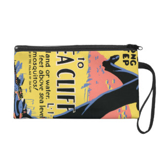 Just one long step to Sea Cliff Wristlet Purse