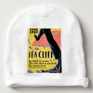 Just one long step to Sea Cliff Baby Beanie