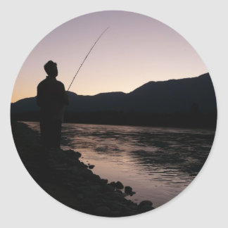 Just One More Cast! Classic Round Sticker