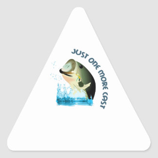 JUST ONE MORE CAST TRIANGLE STICKER