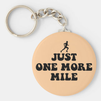 Just one more mile key chain