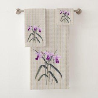 Just Orchids Bath Towel Set
