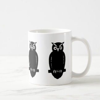 Just Owls - On White or Custom Color Classic White Coffee Mug