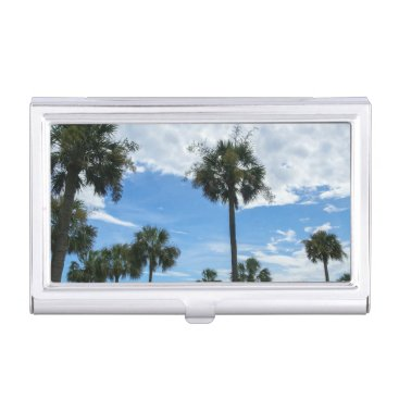 Professional Business Just Palm Trees Business Card Holder