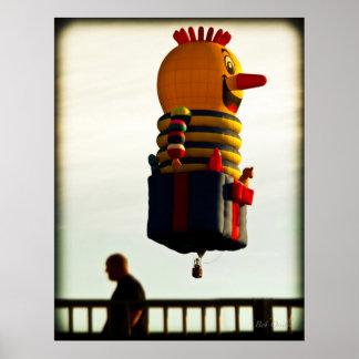Just passing through  Hot Air Balloon Poster