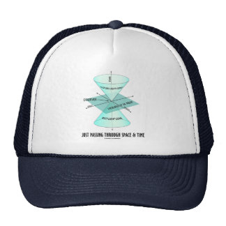 Just Passing Through Space & Time (Light Cone) Hat