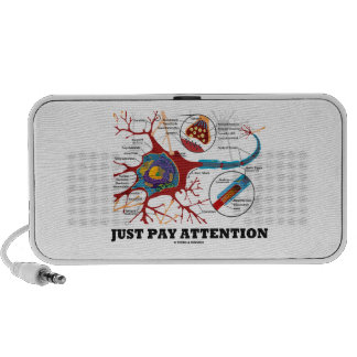 Just Pay Attention (Neuron / Synapse Anatomical) Portable Speakers
