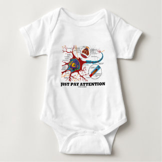 Just Pay Attention (Neuron / Synapse) Baby Bodysuit