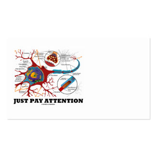 Just Pay Attention (Neuron / Synapse) Double-Sided Standard Business Cards (Pack Of 100)