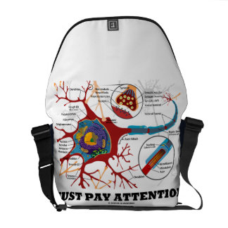 Just Pay Attention (Neuron / Synapse) Commuter Bags