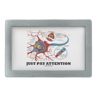 Just Pay Attention (Neuron / Synapse) Rectangular Belt Buckle