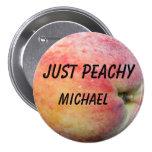 Just Peachy 3 Inch Round Button