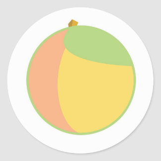 Just Peachy Classic Round Sticker