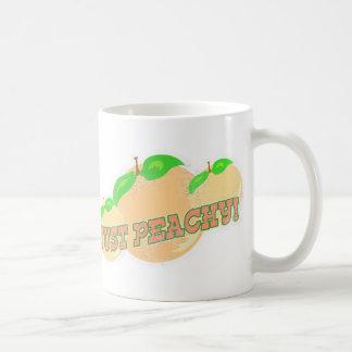 Just peachy coffee mugs