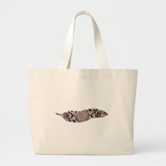 Just Peachy Feather Large Tote Bag