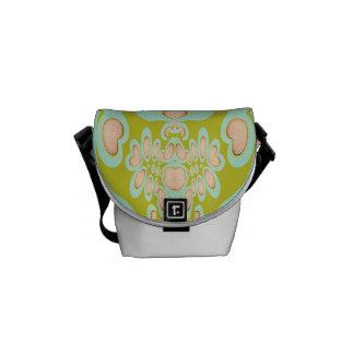 Just Peachy Orb Fractal Mini Messenger Bag