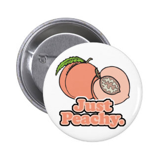 Just Peachy Peach Pinback Buttons