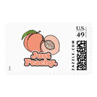 Just Peachy Peach Postage Stamp
