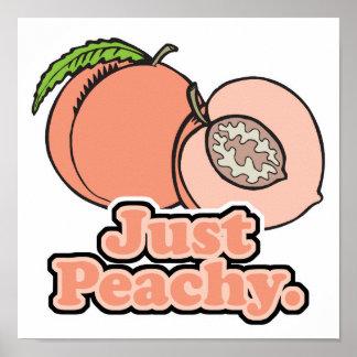 Just Peachy Peach Poster
