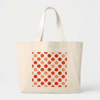 Just Peachy Polka Dots Canvas Bag