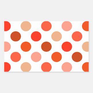 Just Peachy Polka Dots Rectangular Sticker