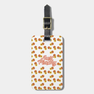 """""""Just Peachy"""" Typography on Peach Pattern Tag For Luggage"""