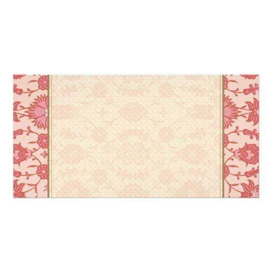 Just Peachy - Vintage Floral Pattern Card