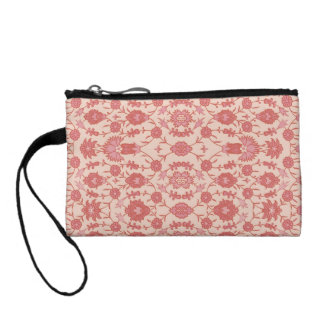 Just Peachy - Vintage Floral Pattern Coin Wallet