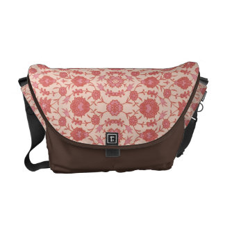 Just Peachy - Vintage Floral Pattern Messenger Bag