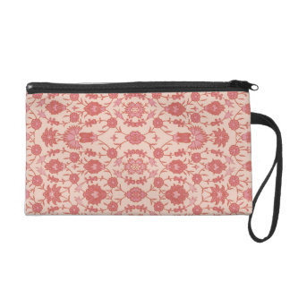 Just Peachy - Vintage Floral Pattern Wristlet Purse