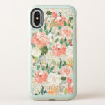 "Just Peachy Watercolor Floral Pattern OtterBox Symmetry iPhone X Case<br><div class=""desc"">Stylishly feminine,  this lovely design features a pattern of watercolor roses,  peonies and other assorted blossoms with scattered greenery. Colors include peach,  pink,  off-white and green.</div>"