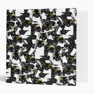 just penguins black white yellow 3 ring binder