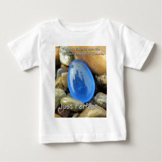 """Just Perfect"" Blue Sea Glass Baby T-Shirt"
