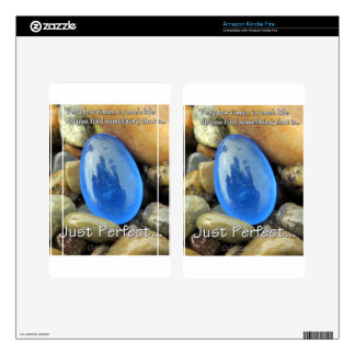 """Just Perfect"" Blue Sea Glass Kindle Fire Skin"
