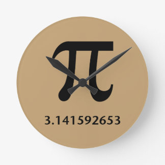 Just Pi, Nothing More Round Clock