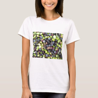 Just picked olives background during harvest time T-Shirt