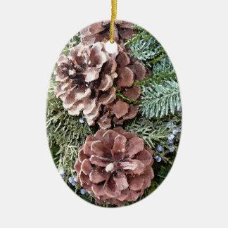 Just Pine Cones Ceramic Ornament