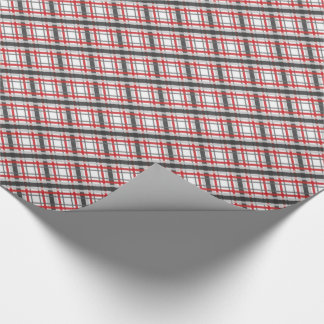 Just Plaid ~ Red and Grey Wrapping Paper