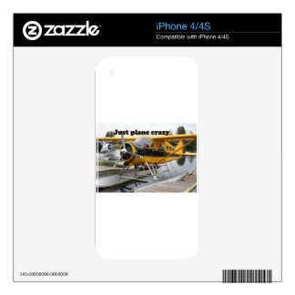 Just plane crazy: Beaver float plane, Alaska Decals For The iPhone 4