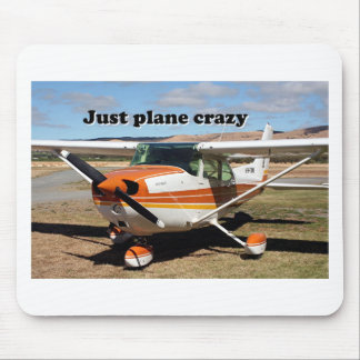 Just plane crazy: Cessna Skyhawk aircraft Mouse Pad