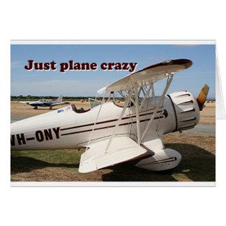 Just plane crazy: Waco biplane aircraft Card