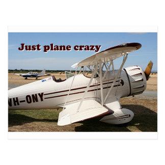 Just plane crazy: Waco biplane aircraft Postcard