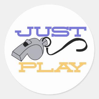 Just Play Classic Round Sticker