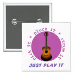 Just Play It Guitar graphic Pins