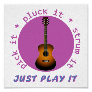 Just Play It Guitar graphic Posters