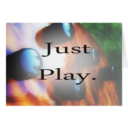 Just Play music design with tiger bass background Card