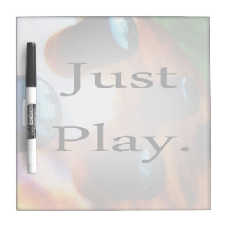 Just Play music design with tiger bass background Dry Erase Board